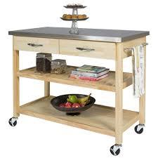 Portable Kitchen Islands With Stools Kitchen Stainless Steel Movable Kitchen Island Wheeled Kitchen