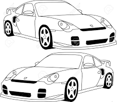 porsche cartoon drawing 911 porsche royalty free cliparts vectors and stock illustration