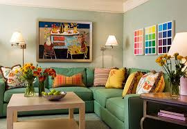 Colorful Living Rooms Traditional Home - Colorful living room