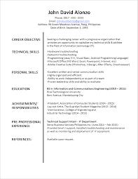 resume templates internship cover letter student resume format sample fresh graduate resume cover letter sample resume format for fresh graduates one page sample singlestudent resume format sample extra