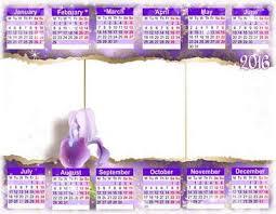 2016 calendar png calendar template psd can insert photo