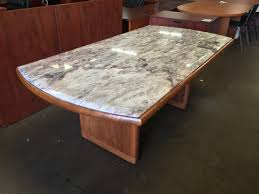 wood and granite conference table u2013 new and used office furniture