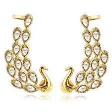 gold ear cuffs gold finish ear cuffs by spargz earrings homeshop18