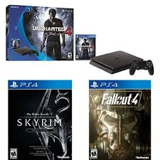 fallout 4 1tb xbox one bundle target black friday 500gb sony ps4 slim uncharted 4 bundle w skyrim se fallout 4