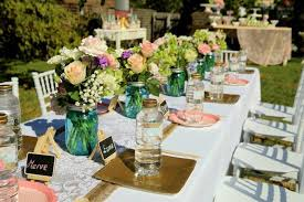 vintage rustic garden themed birthday party with lots of really