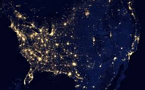 space electricity earth lights grid science usa power nasa