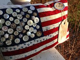 patriotic decorations prim patriotic flag pillow tuck americana