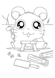 hamtaro panda holding pm coloring pages for kids fcq printable