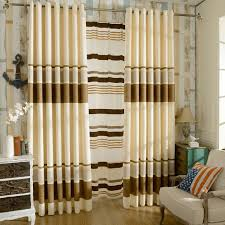 striped bedroom curtains brown beige chenille striped curtains for bedroom