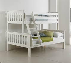 Betternowmcouk Atlantis Solid Pine Wooden TRIPLE SLEEPER BUNK - White bunk beds uk