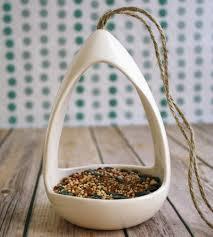 hanging ceramic bird feeder home decor u0026 lighting fettle