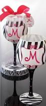 cool glass design for personality gift ideas zebra wine glass by