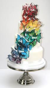 rainbow butterfly wedding cake etoile bakery
