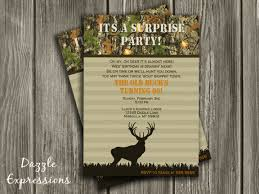 printable hunting surprise birthday party invitation 30th