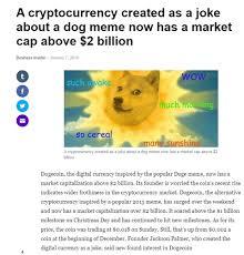 Such Meme - dogecoin such wow when an internet meme has a 2 billion valuation