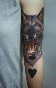 coloured wolf forearm tattooimages biz