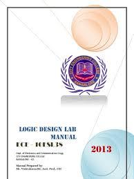 logic design lab manual 10esl38 3rd sem 2013 logic synthesis
