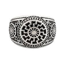 custom rings for men 5pcs slavic black sun rings s custom talisman ring wedding