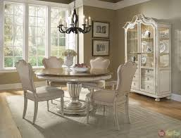 round country dining table dining room white country round table and chairs set amazing sets