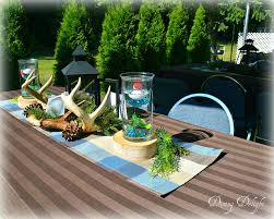 themed tablescapes dining delight fishing themed centerpiece summer