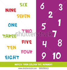 match colour numbers 1 10 kids stock vector 500290411 shutterstock