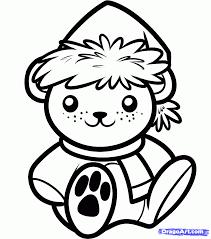 drawn teddy bear christmas pencil color drawn teddy bear