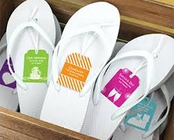 flip flop wedding favors wedding flip flops w personalized tag black or white available