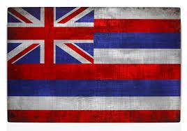 Hawaiian Flag Hawaiian Flag On Distressed Metal 8x12 Print