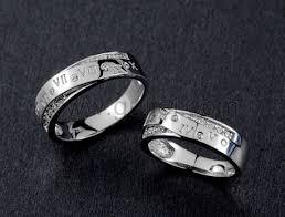 custom rings for men personalized name promise rings set for men and women personalized
