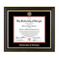 diploma frame size embossed uga seal satin black diploma frame this professional