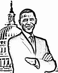 to print barack obama coloring page 60 in free colouring pages