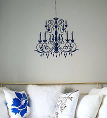 Chandelier Stencils Teen Bedroom In Gray And Aqua