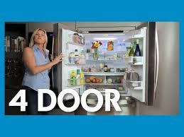Refrigerator With French Doors And Bottom Freezer - kenmore elite 4 door fridge w dual freezer drawers for more
