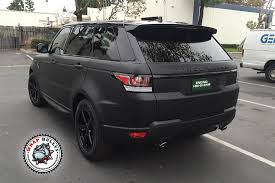 land rover black 2016 range rover sport wrapped in 3m deep matte black wrap bullys