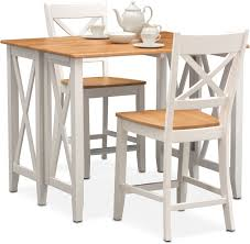 Maple Chairs Nantucket Counter Height Table And 4 Side Chairs Maple And White