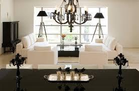 elegant living room ideas with black tripod floor lamp and modern
