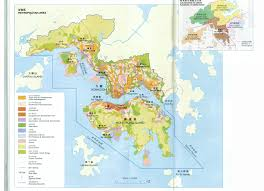 Map Of Hong Kong Land Use Of The Metropolitan Area Of Hong Kong 4076x2945 Mapporn