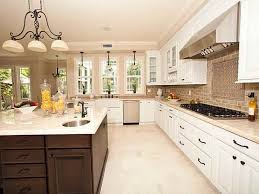 white kitchen with backsplash these are our colors white cabs floor tile sand