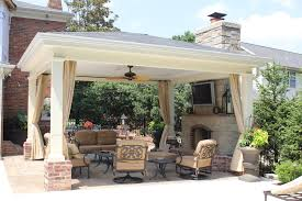 covered patio with fireplace netilove com