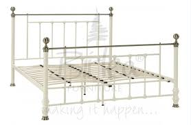 birlea charlotte 4ft 6 double cream metal bed frame by for cheap