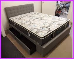 Milan Bed Frame Bed Frame Upholstered Fabric With Storage Four Drawers
