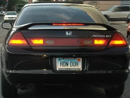 personalized plate honda obvious but personalized license