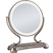 zadro lighted makeup mirror zadro 16 in l x 12 75 in w x 6 25 in d dual sided lighted