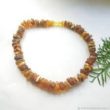 amber stone necklace images Amber beads healing of natural rough stone 40 cm shop online on jpg