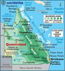 map of queensland queensland map geography of queensland map of queensland