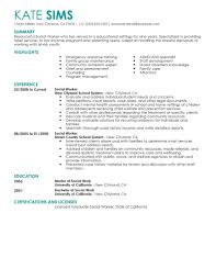 social work resume exles best social worker resume exle livecareer