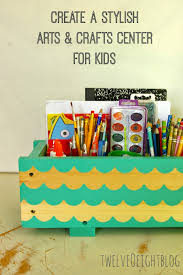 create a stylish arts crafts center for kids twelveoeight