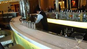 martini bar bartending iced martini bar on celebrity silhouette youtube