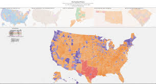 Map The United States by Mapping The Electorate Liveblog From Politicalanalytics2016