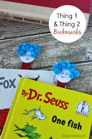 dr seuss kids u0027 craft thing one and thing two bookmarks i dig